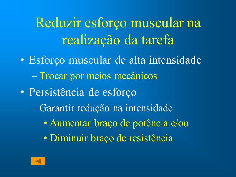 Reduzir esforço muscular na realização da tarefa