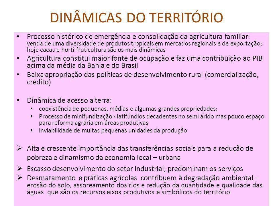 DINÂMICAS DO TERRITÓRIO
