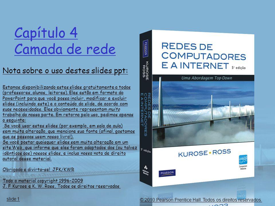 Capítulo 4 Camada de rede