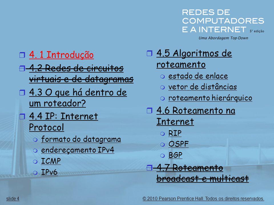 4.2 Redes de circuitos virtuais e de datagramas