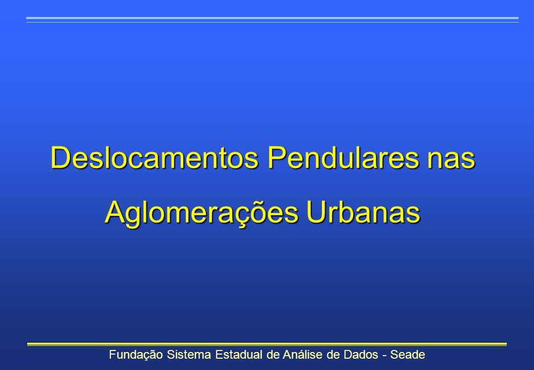 Deslocamentos Pendulares nas Aglomerações Urbanas