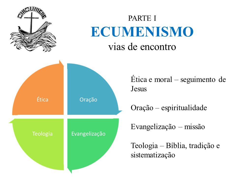 PARTE I ECUMENISMO vias de encontro