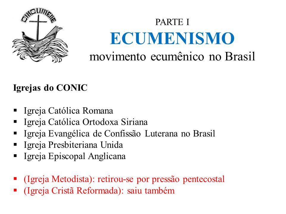 PARTE I ECUMENISMO movimento ecumênico no Brasil