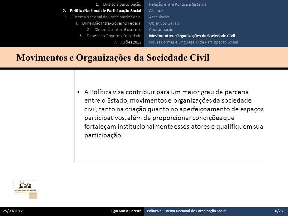 Movimentos e Organizações da Sociedade Civil
