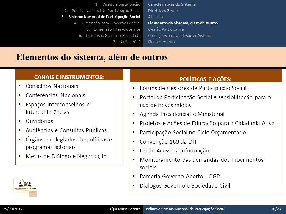 CANAIS E INSTRUMENTOS: