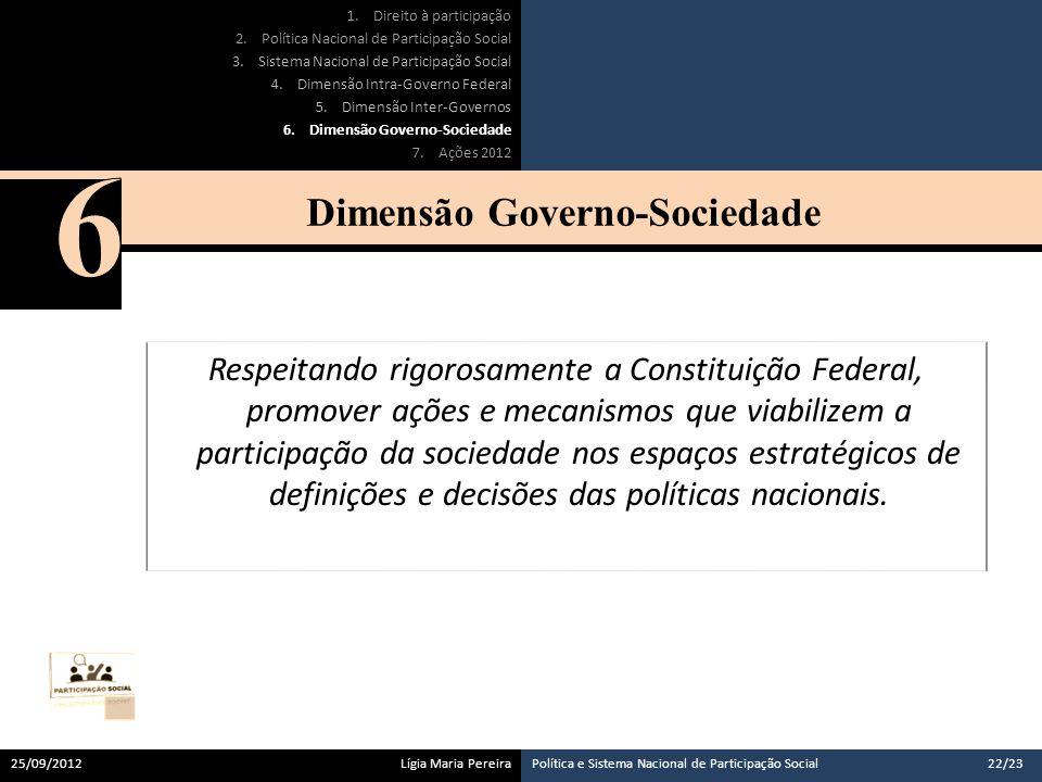 Dimensão Governo-Sociedade