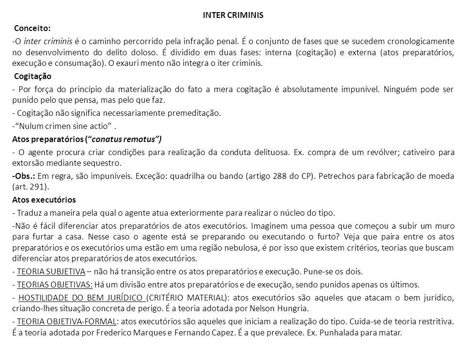 INTER CRIMINIS Conceito: