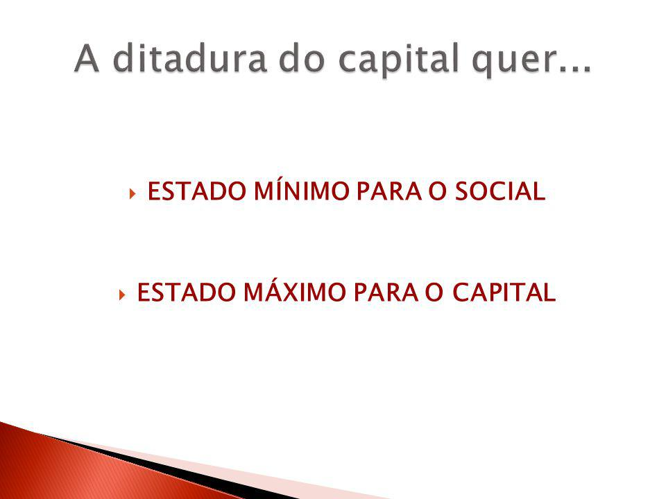 A ditadura do capital quer...