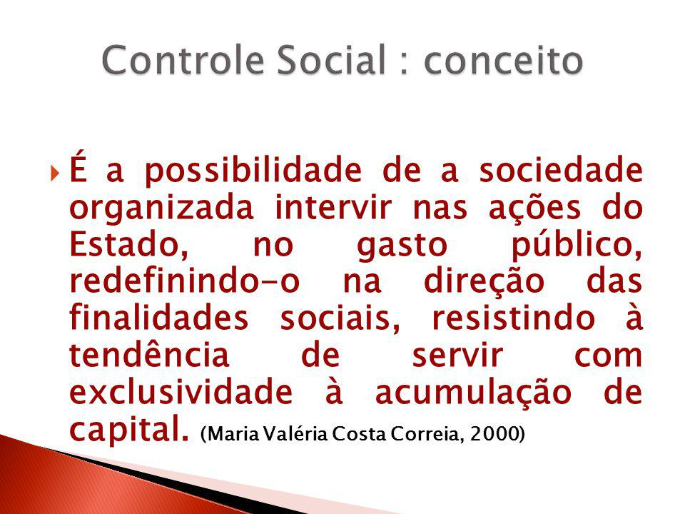 Controle Social : conceito