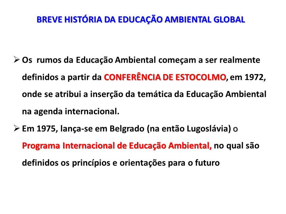 BREVE HISTÓRIA DA EDUCAÇÃO AMBIENTAL GLOBAL