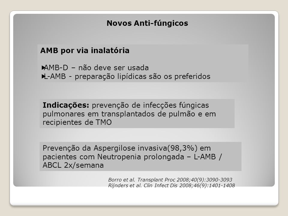AMB-D – não deve ser usada