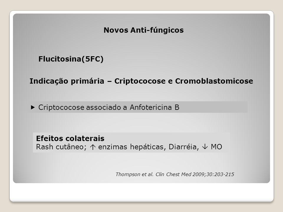 Indicação primária – Criptococose e Cromoblastomicose
