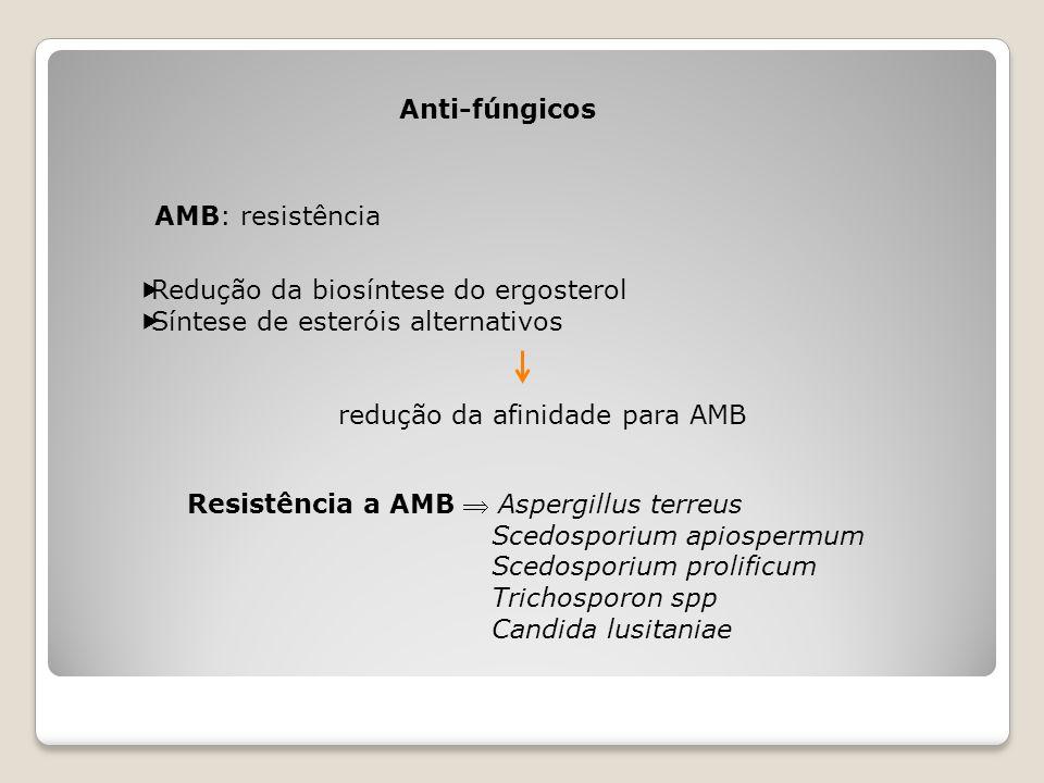 redução da afinidade para AMB