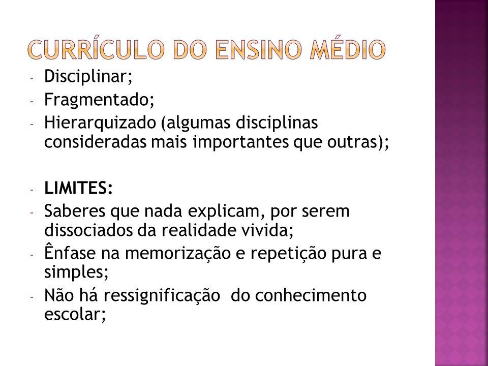 Currículo do Ensino Médio