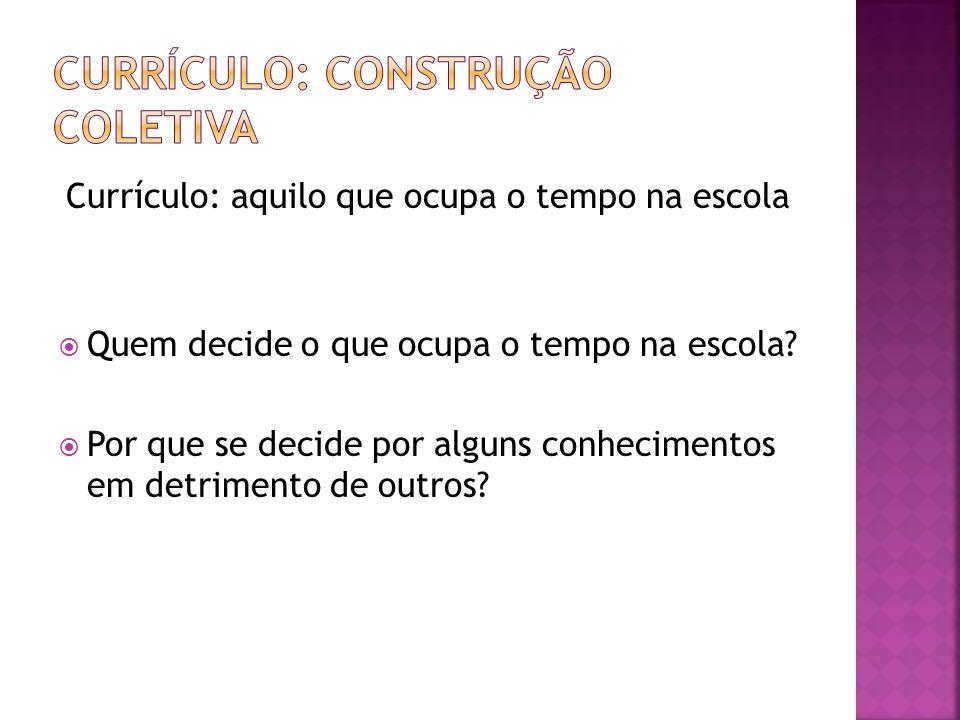 Currículo: construção coletiva