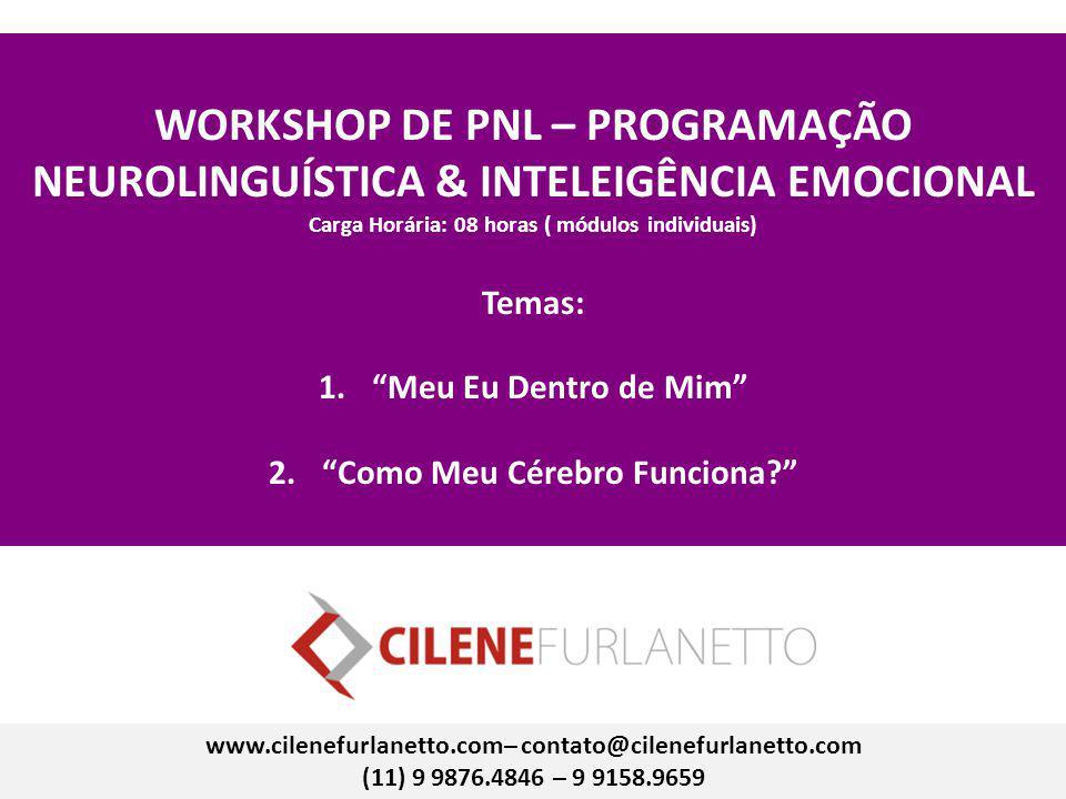 WORKSHOP DE PNL – PROGRAMAÇÃO NEUROLINGUÍSTICA & INTELEIGÊNCIA EMOCIONAL