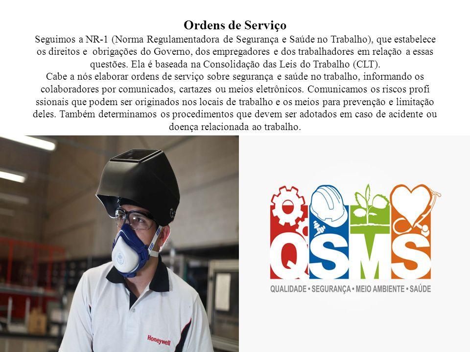 Ordens de Serviço Seguimos a NR-1 (Norma Regulamentadora de Segurança e Saúde no Trabalho), que estabelece os direitos e obrigações do Governo, dos empregadores e dos trabalhadores em relação a essas questões.
