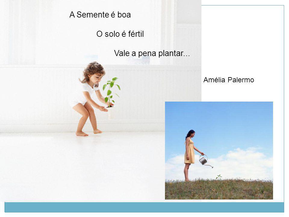 A Semente é boa O solo é fértil Vale a pena plantar... Amélia Palermo