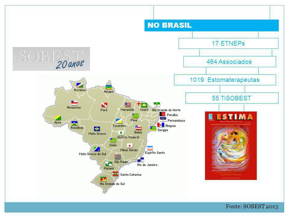 NO BRASIL 17 ETNEPs 464 Associados 1019 Estomaterapeutas 55 TiSOBEST
