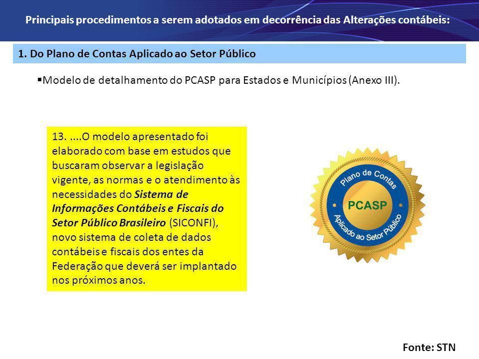 1. Do Plano de Contas Aplicado ao Setor Público