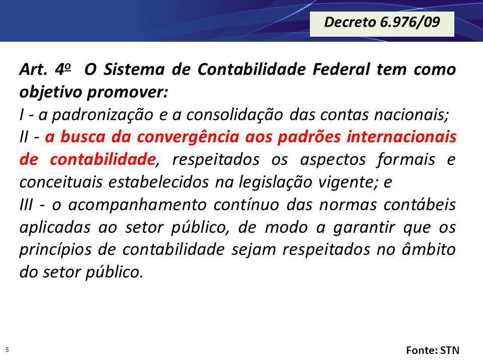 Art. 4o O Sistema de Contabilidade Federal tem como objetivo promover: