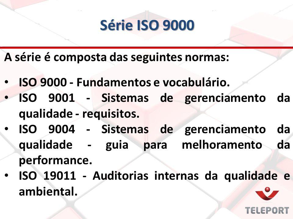 Série ISO 9000 A série é composta das seguintes normas: