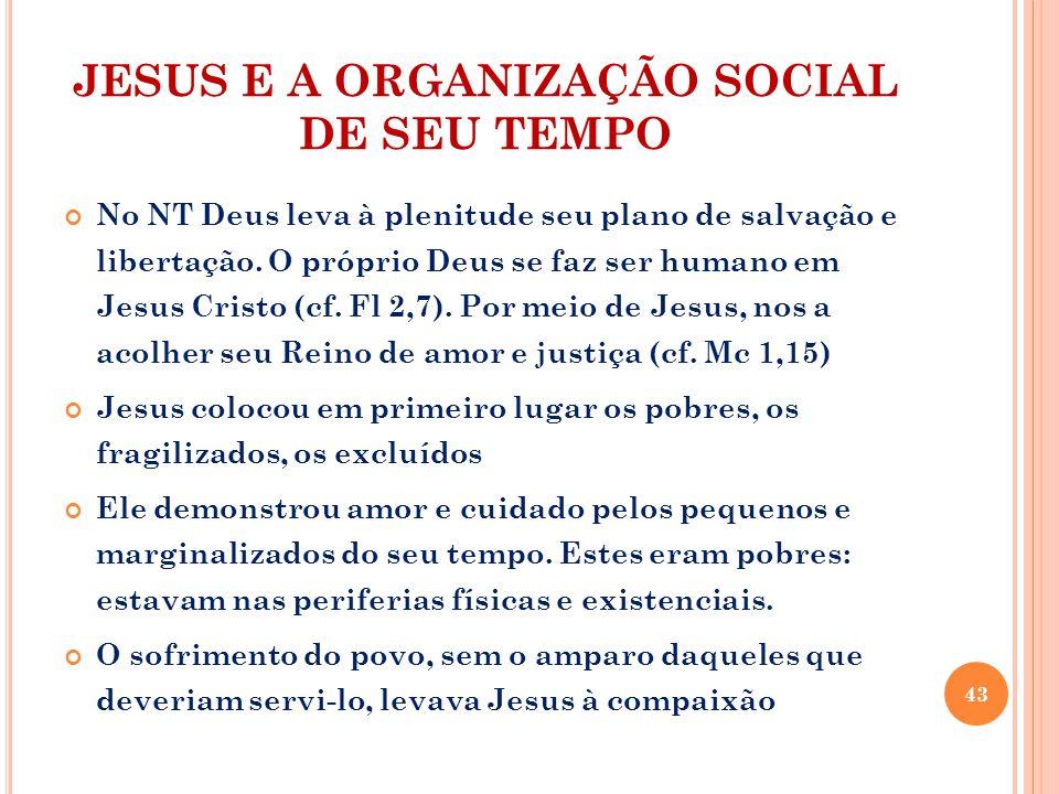 JESUS E A ORGANIZAÇÃO SOCIAL DE SEU TEMPO