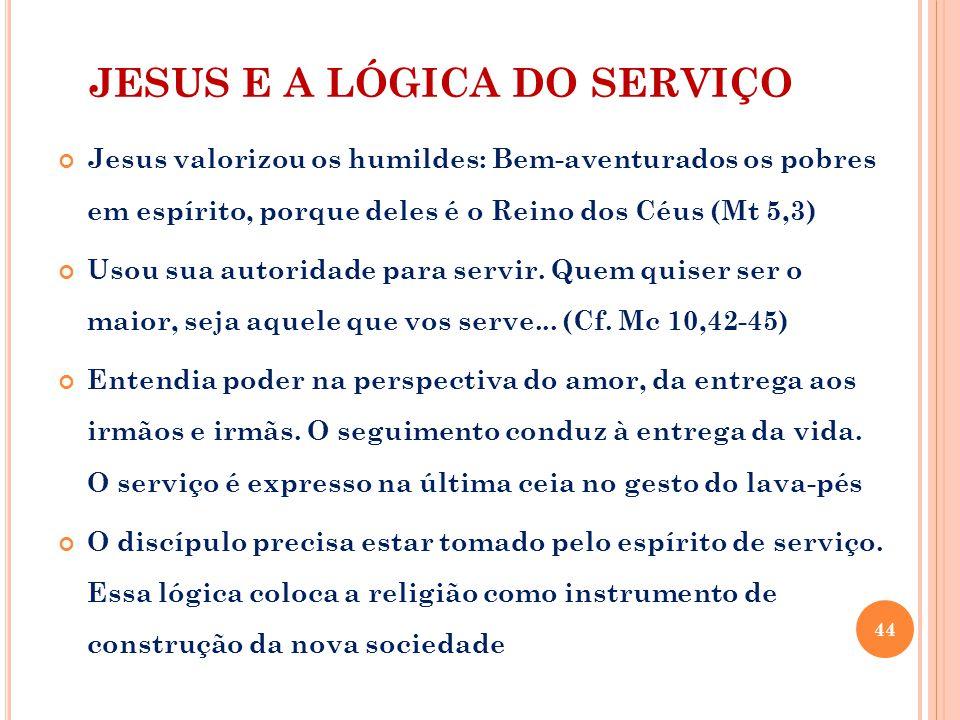 JESUS E A LÓGICA DO SERVIÇO