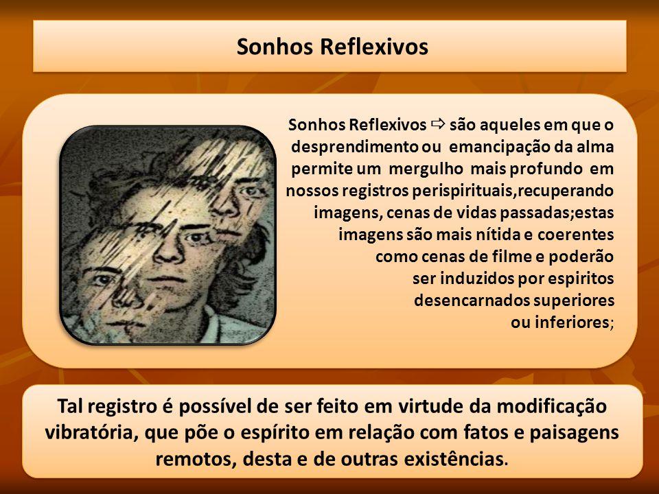 Sonhos Reflexivos Sonhos Reflexivos  são aqueles em que o. desprendimento ou emancipação da alma.