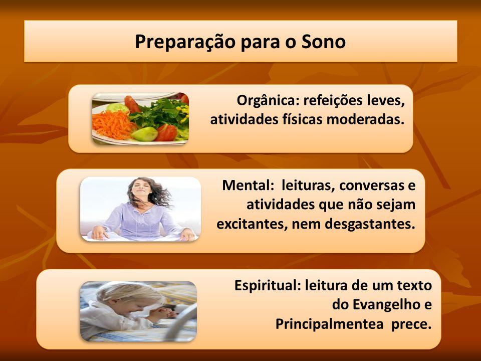 Preparação para o Sono Orgânica: refeições leves,