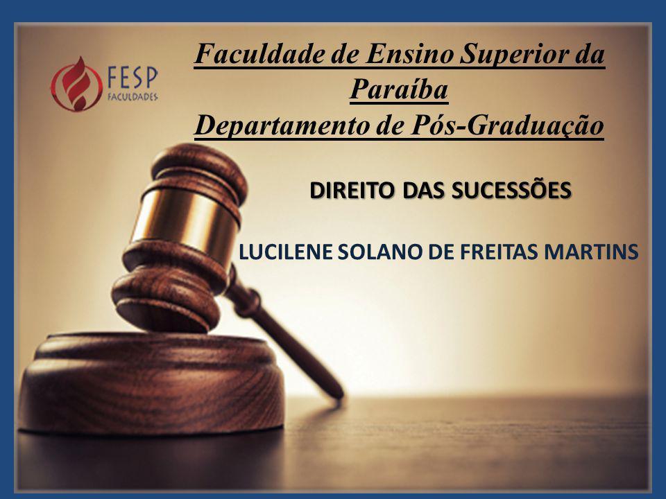 Faculdade de Ensino Superior da Paraíba Departamento de Pós-Graduação