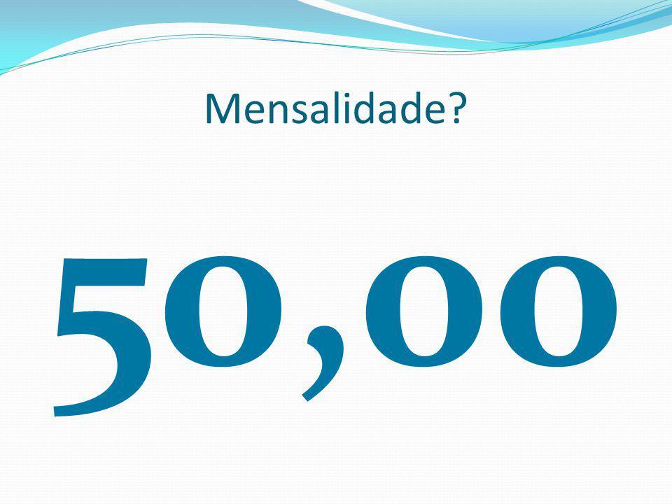Mensalidade 50,00