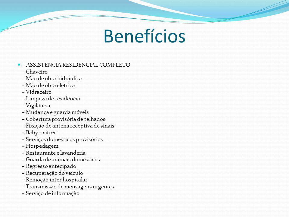 Benefícios ASSISTENCIA RESIDENCIAL COMPLETO – Chaveiro