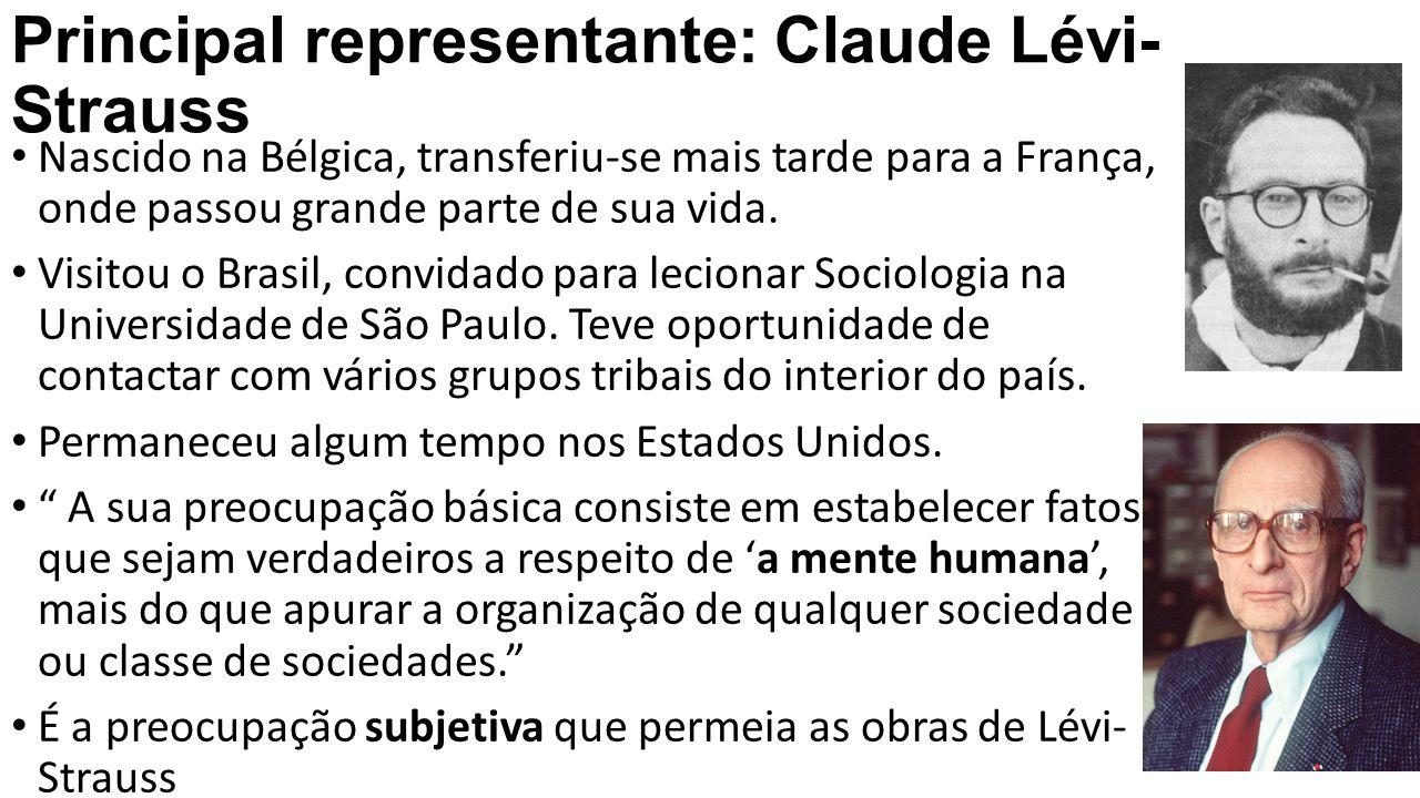 Principal representante: Claude Lévi-Strauss