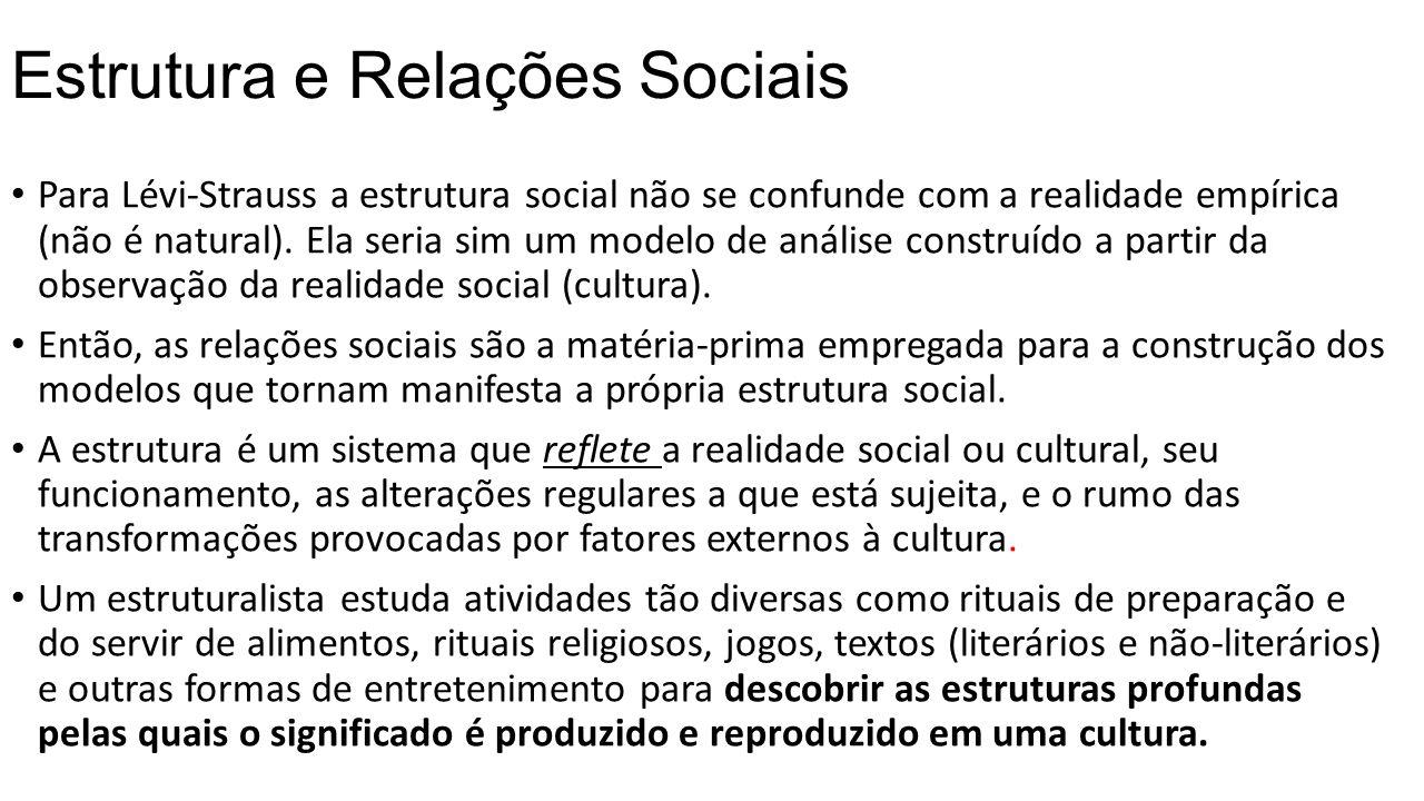 Estrutura e Relações Sociais