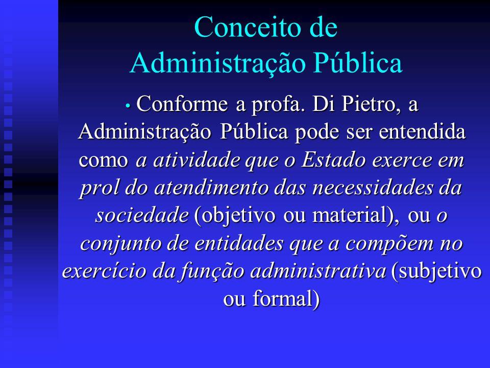 Conceito de Administração Pública