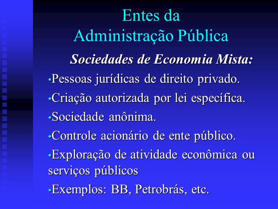 Entes da Administração Pública