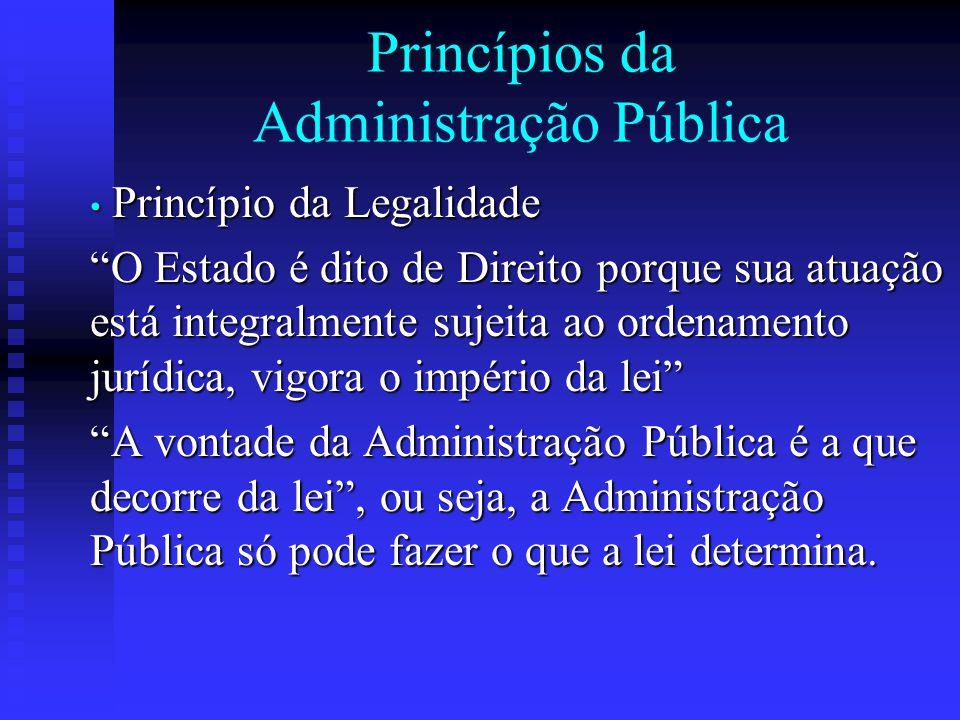 Princípios da Administração Pública