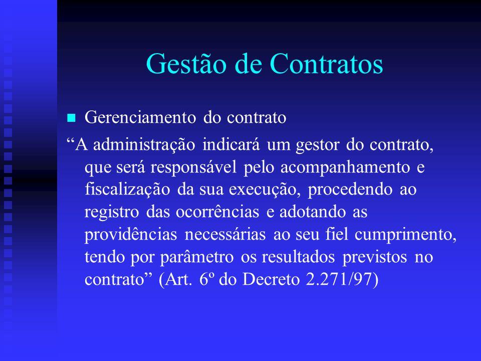 Gestão de Contratos Gerenciamento do contrato