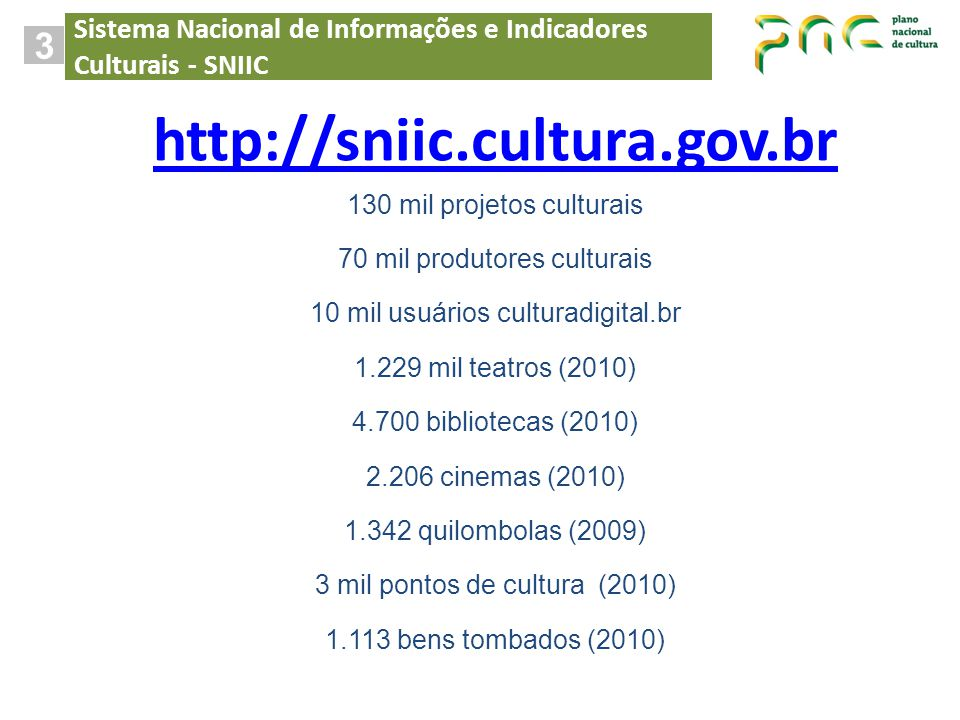 http://sniic.cultura.gov.br 3