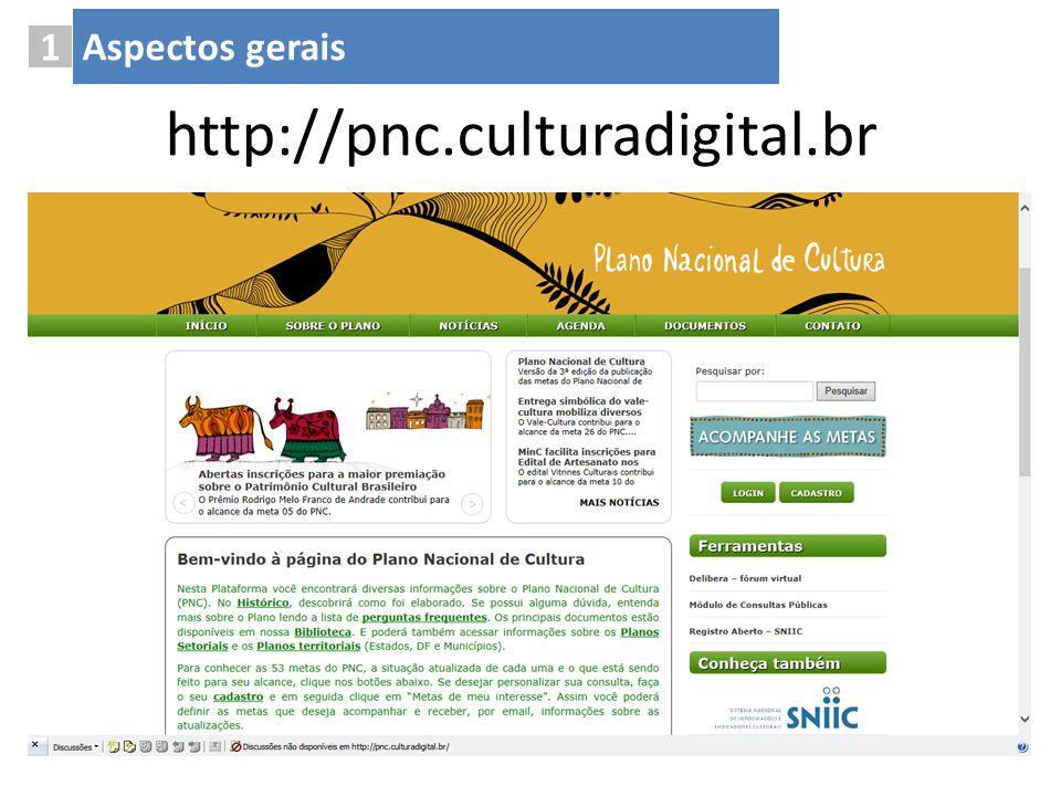 1 Aspectos gerais http://pnc.culturadigital.br