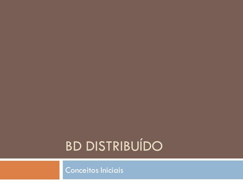 BD Distribuído Conceitos Iniciais