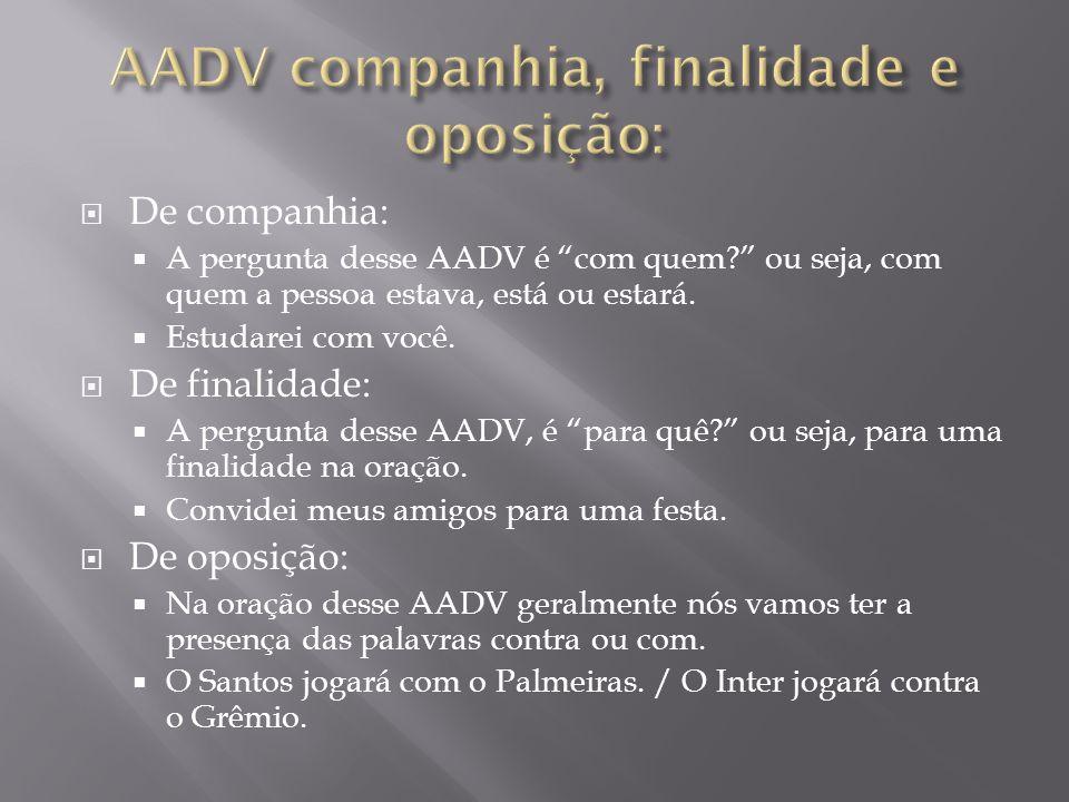 AADV companhia, finalidade e oposição: