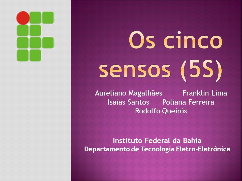 Os cinco sensos (5S) Aureliano Magalhães Franklin Lima Isaias Santos Poliana Ferreira Rodolfo Queirós.