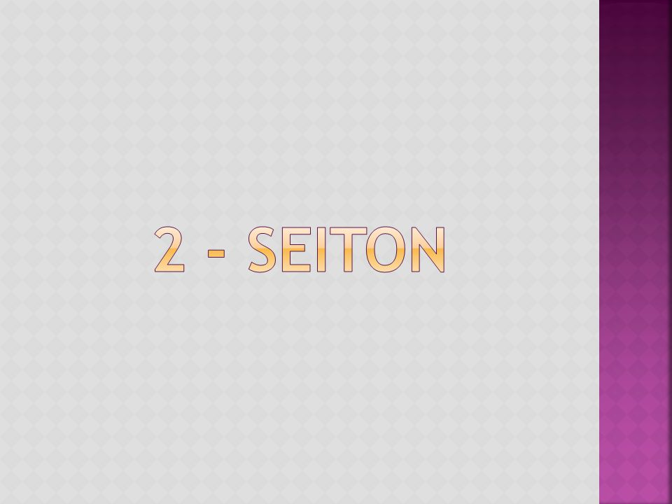 2 - SEITON