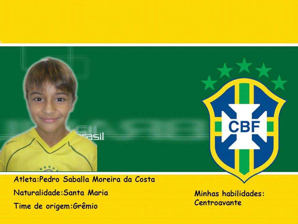Atleta:Pedro Saballa Moreira da Costa
