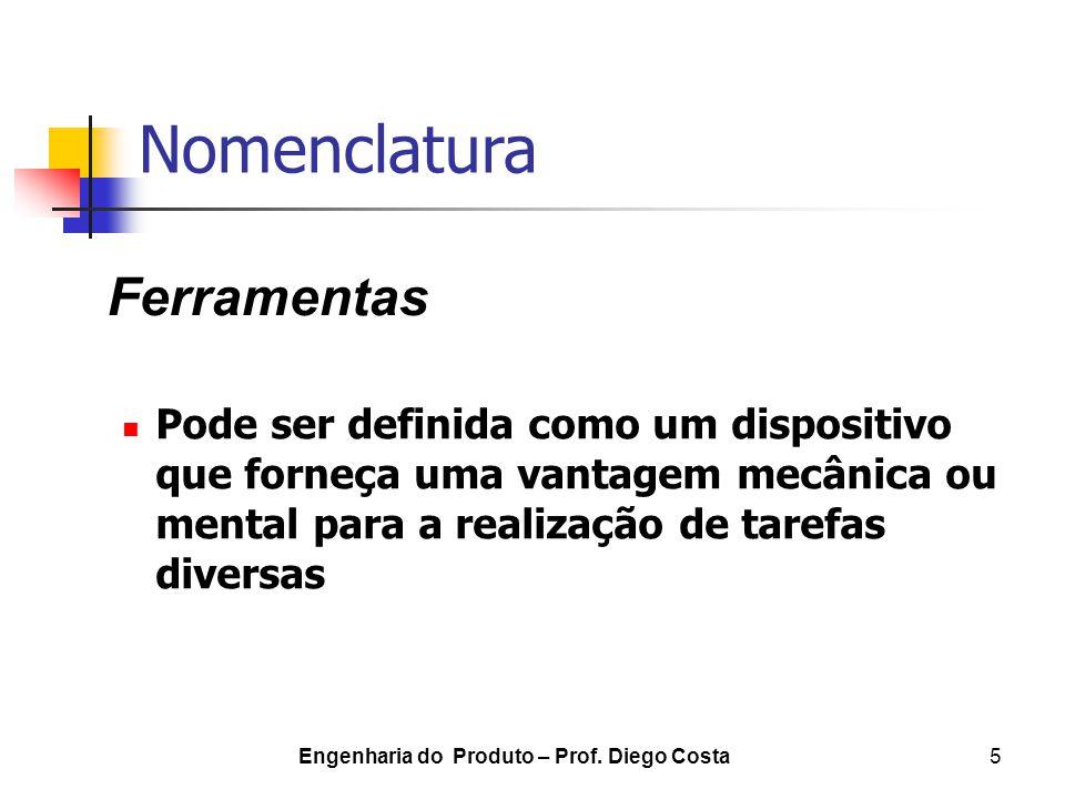 Engenharia do Produto – Prof. Diego Costa