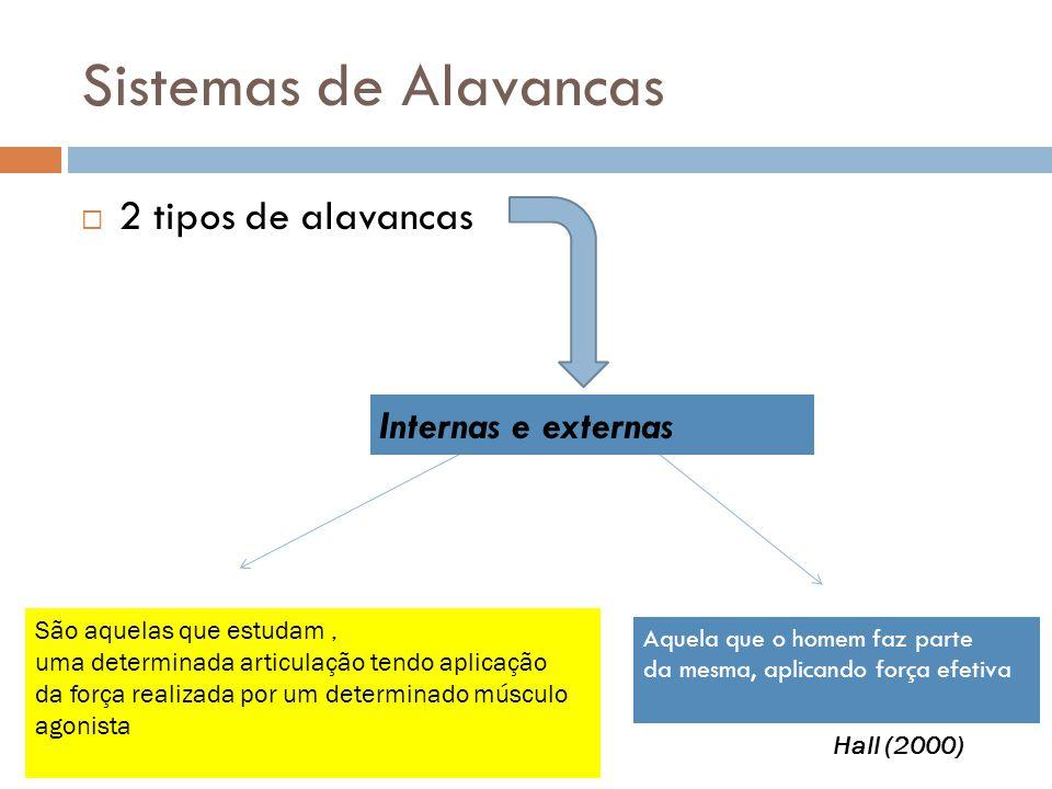 Sistemas de Alavancas 2 tipos de alavancas Internas e externas