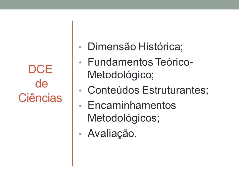 DCE de Ciências Dimensão Histórica; Fundamentos Teórico-Metodológico;
