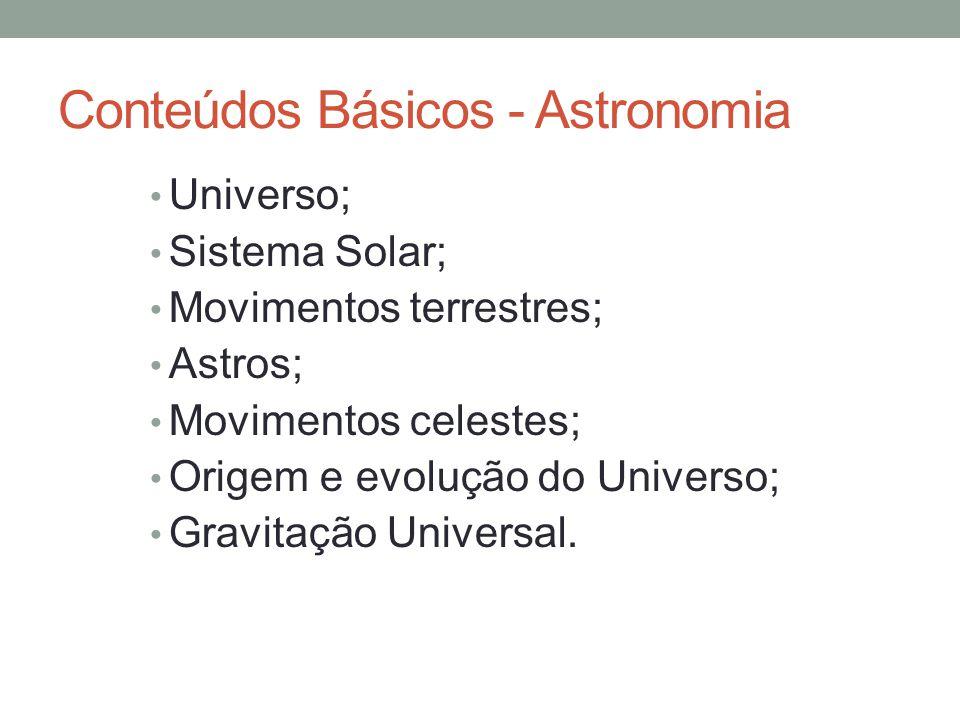 Conteúdos Básicos - Astronomia
